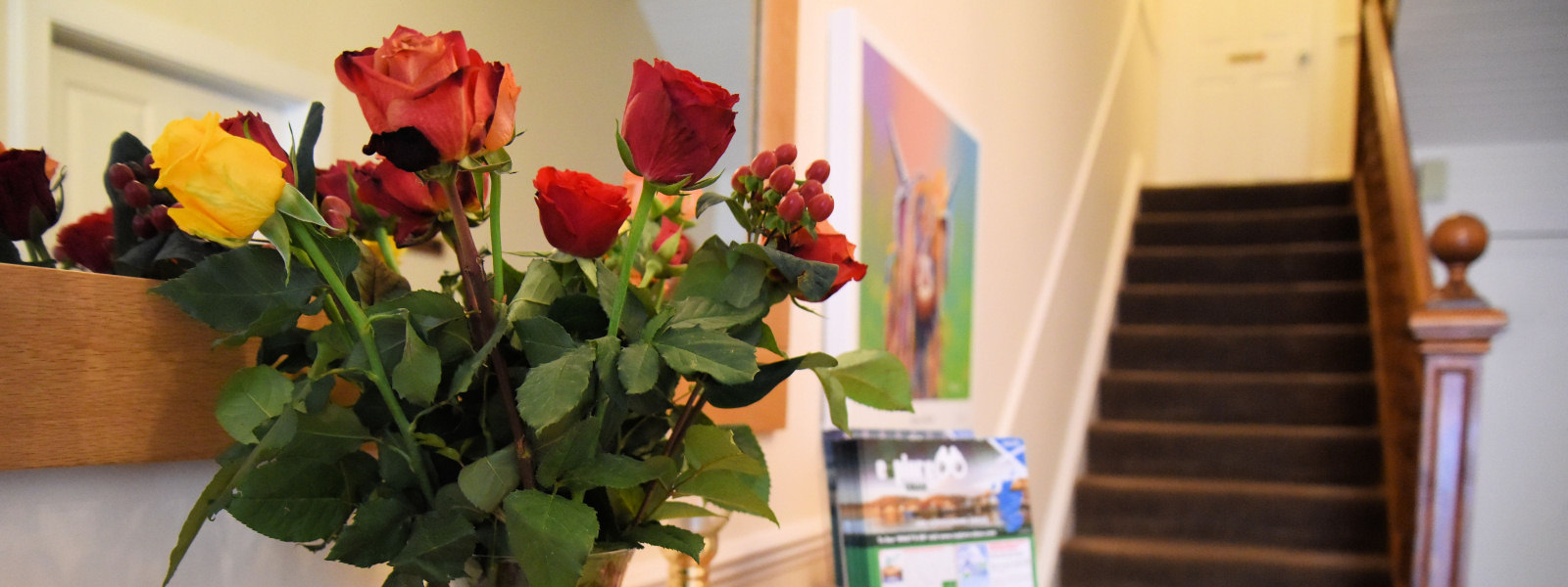 Roses in Entrance Hall